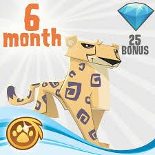 animaljam gift card 6 month membership gift certificate 25 diamonds 100th day
