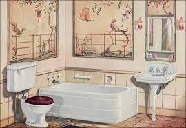 1926 Crane Plumbing Fixtures 1920s Bathroom Asian Theme 1920s Bathroom Light Fixtures