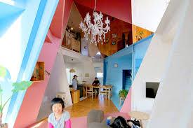 Japanese Home Design Studio Apartments Japanese Designer Turns Dull Apartment Building Into A Vivid