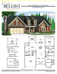 reliant homes the emerson plan floor plans homes homes for