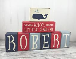 Nautical Baby Shower Decorations Nautical Baby Shower Decor Custom Name Wood Sign Letters