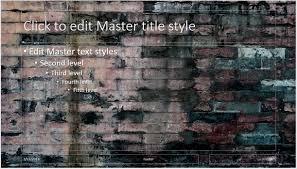 old dark brick wall background powerpoint presentation template