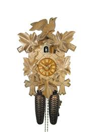 orig black forest cuckoo clock classic 5 leafes 1 bird 8 70