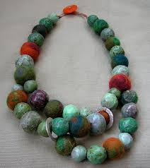 making necklace with beads images How to make beautiful beads from recycled newspaper a storybook life jpg