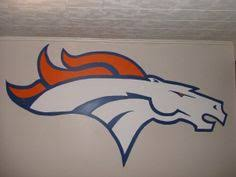 denver broncos helmet wood decor realistic sign by duranduran2946