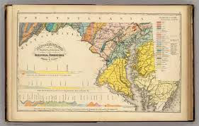 Map Of Columbia Map Of Maryland And The District Of Columbia Geological Formations