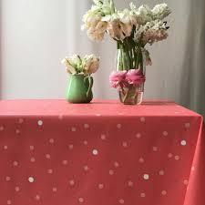 nappe en coton enduit nappe en coton enduit fleur de soleil confettis corail