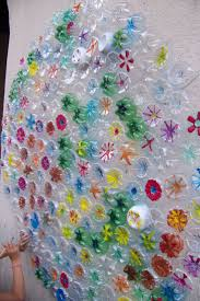 154 best recycled art ideas images on pinterest diy bottle cap colorful recycling project using the bottom of plastic bottles
