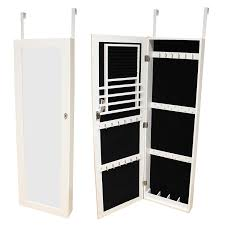 Wall Organiser Hartleys Door Wall Mounted Mirror U0026 Jewellery Organiser Cabinet
