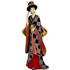 oriental furniture 14 in geisha with ivory flower sash decorative