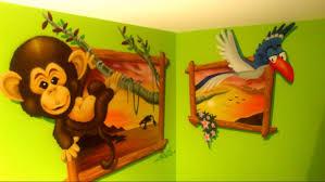 chambre jungle coucher design meuble enfant amenager italienne une garcon pour