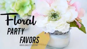 Flower Favors by Diy Beautiful Floral Candles Wedding Favors Le