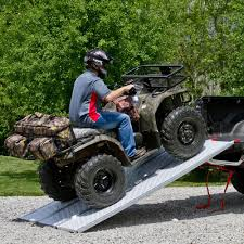 Ford F150 Truck Ramps - black widow aluminum extra wide punch plate tri fold atv ramps