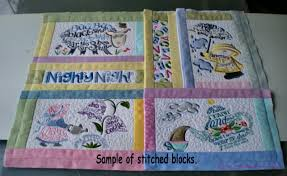 nursery rhyme special edition quilt an embroidered affair