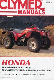 honda trx300 fourtrax 300 1988 2000 service repair manual m346 3