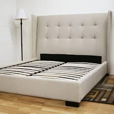 bedroom grey tufted bed upholstered bed frame overstock beds