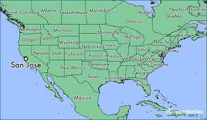 san jose california on us map maps of usa