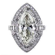 marquise cut diamond ring 5 carat marquise cut diamond platinum engagement ring boca raton