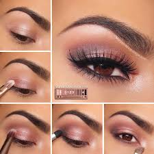 rosy smokey eyes eyeshadow for brown eyes makeup tutorials guide