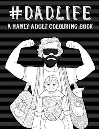 mens baby shower a manly colouring book new gifts mens