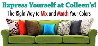 color furniture the right way to mix match your colors colleen s classic consignment