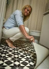 diy bathroom flooring ideas real rental upgrades that happened in a weekend or less