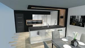 cuisine noir et blanche design d int rieur cuisine equipee blanche modele noir et blanc avec