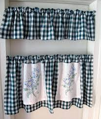 Kitchen Curtains Blue Navy Blue Gingham Kitchen Curtains U2013 Muarju