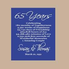 65th wedding anniversary gifts 65th anniversary print sapphire anniversary parents