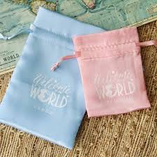 Personalized Cotton Candy Bags Edible Baby Shower Favors
