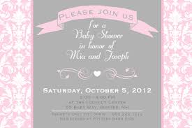 pink and grey baby shower invitations theruntime com