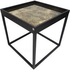 black and gold side table rayan side table 50x50 black gold the one furniture dubai