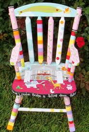 Personalized Kid Chair Stunning Childrens Rocking Chair With Footstool And Best 20