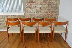 sva mobler danish teak dining chairs set of 8 galaxiemodern