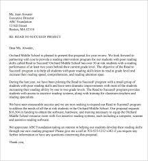 proposal letter format sample business proposal letter proposal