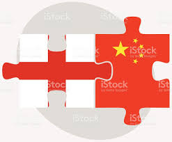 Flags In England Und China Flags In Puzzle Vektor Illustration 472905000