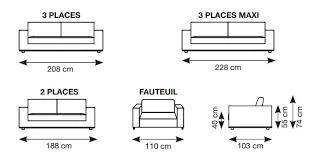 taille canapé 3 places résultat supérieur 25 inspirant dimension canapé 2 places image 2017