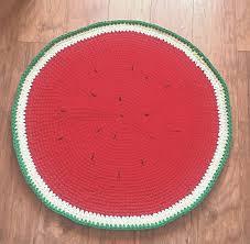 Round Red Rug Rug Red Rug Watermelon Crochet Rug Babyroom Round Rug