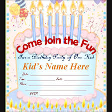 outstanding free birthday invitation cards templates 14 for your