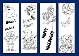 halloween printable bookmarks coloring pages free coloring pages