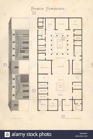 domus pompeiana floor plan and elevation of a luxurious house in