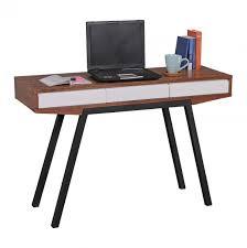 Schreibtisch 90 Cm Wohnling Schreibtisch Retro Berry Walnuss Weiß 3 Schubladen 120