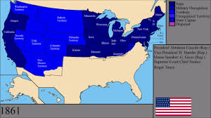 1861 Map Of The United States by The History Of The United States Of America Every Year Youtube