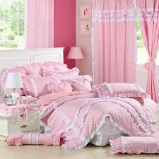 Polka Dot Comforter Queen Pink Polka Dot Girls White Ruffle Bowtie Bedding Girls Lace Ruffle