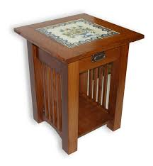 mission style end tables custom made mission style tile top end table