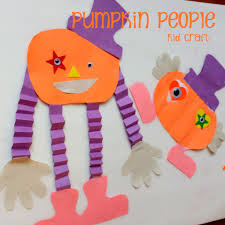 pumpkin people halloween kid craft pumpkin people craft