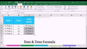 Spreadsheet Software Examples Workday Date U0026 Time Functions With Example In Ms Office Excel