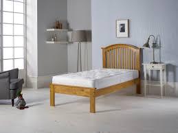 Single Wood Bed Frame 3 U0027 Single Wooden Curved Low End Bed Frame Oak One Stop
