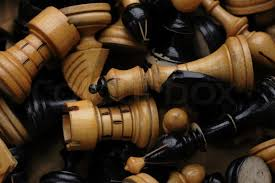 chess as background with wooden pieces stock photo