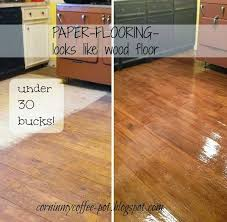 faux wood flooring brown kraft paper glue polyurethane